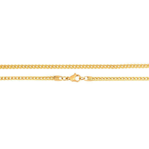 Image of Lavari - Franco Chain Necklace in Stainless Steel, 24 inch