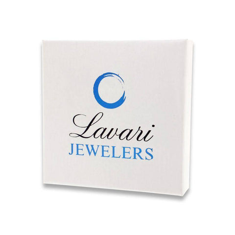 Lavari - Women's Ribbon Diamond Pendant - Sterling Silver