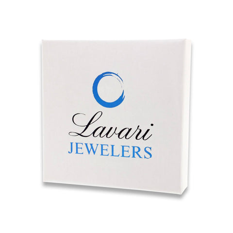 Sterling Silver White Topaz and Lab-created White sapphire Earrings with Diamond Accent