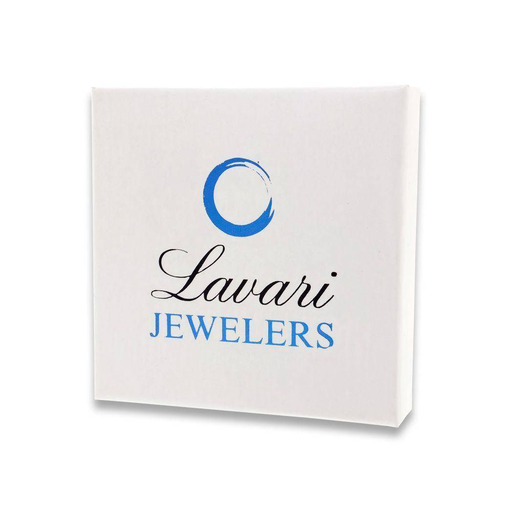 Lavari - Sterling Silver Thin Stack Cubic Zirconium Band Ring
