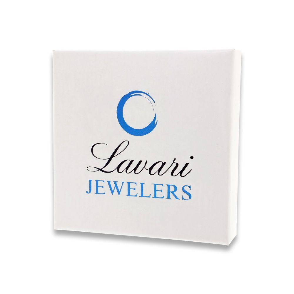 Lavari - Women's Cat Pendant with Diamonds - Sterling Silver