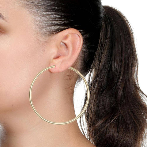 14K Gold Filled Lightweight Hoop Earrings