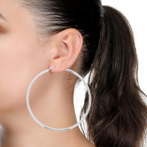 Sterling Silver Lightweight Hoop Earring