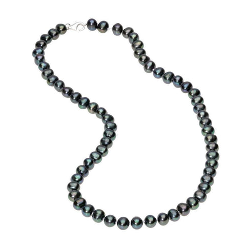 6-7MM Sterling Silver Pearl Necklace, 18""