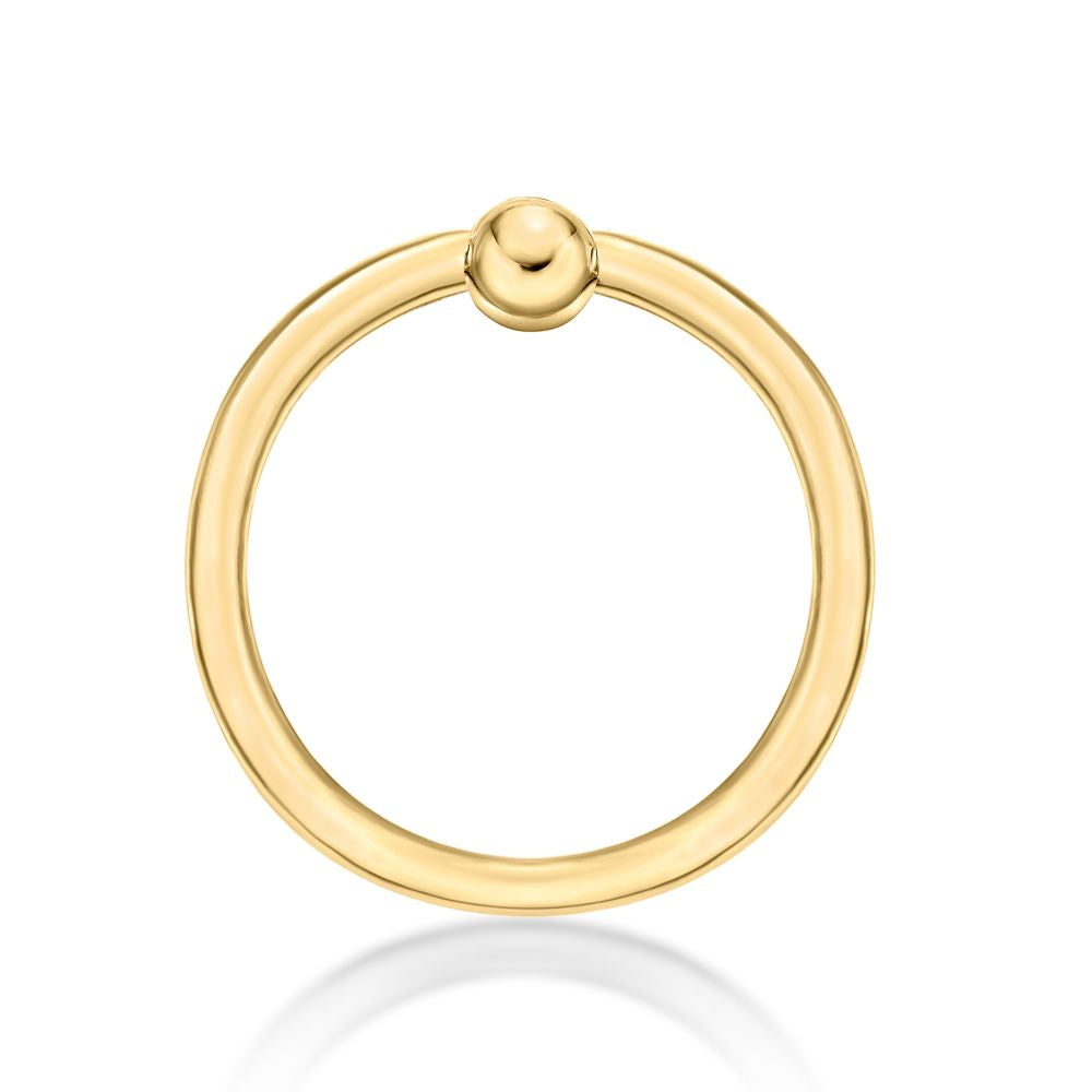 Lavari - 14K Yellow Gold Hoop Lip Eyebrow Belly Nipple Ring