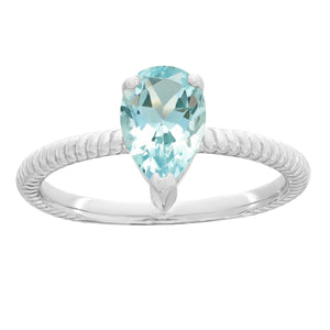 Lavari Jewelers - Sterling Silver Pear Birthstone Ring