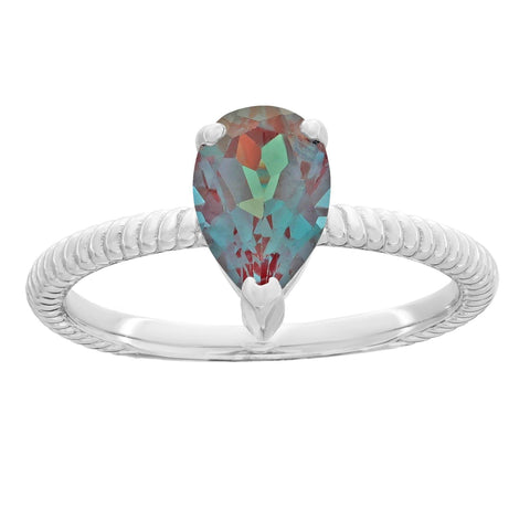 Image of Lavari - Sterling Silver Pear Birthstone Ring