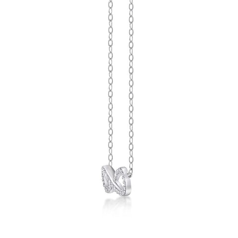 Image of Lavari - Women's Infinity Diamond Pendant - Sterling Silver
