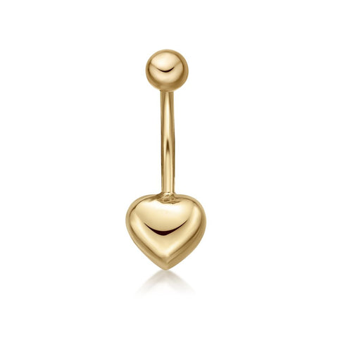 Image of Lavari - Women's 10K Yellow Gold Heart Belly Ring