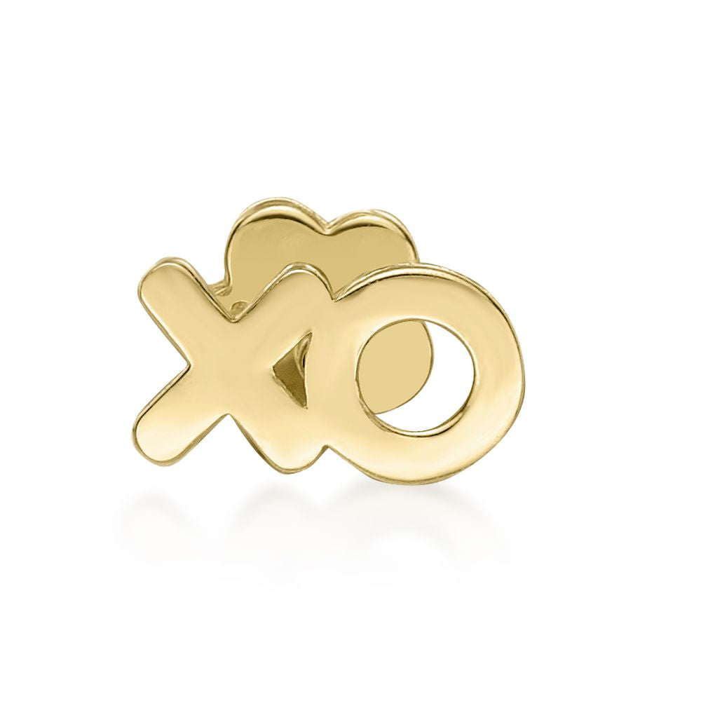 Lavari - 14K XO Cartilage Earring - Yellow Gold