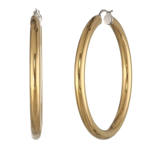 Image of Stainless Steel Hoop Earring, 50 mm