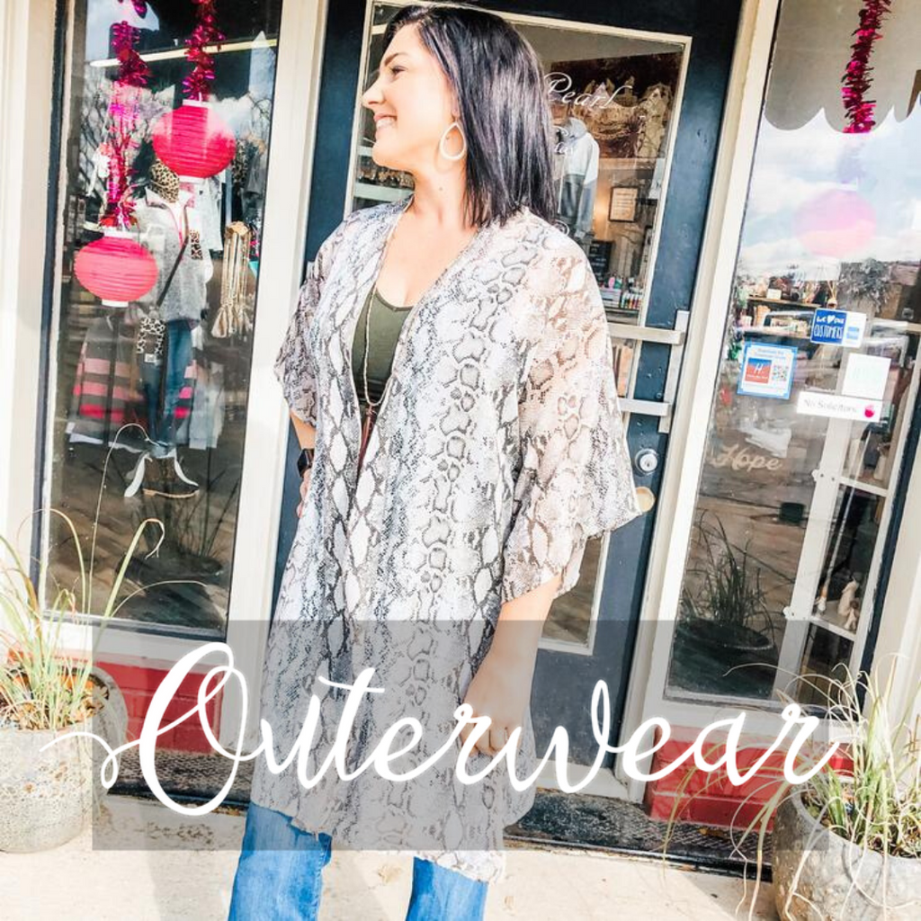 Shop Outerwear- Ruby & Pearl Boutique Hillsboro TX