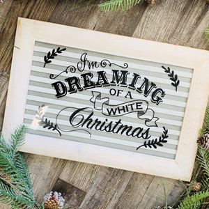 """Dreaming of a White Christmas"" Wall Decor-Ruby & Pearl Boutique"