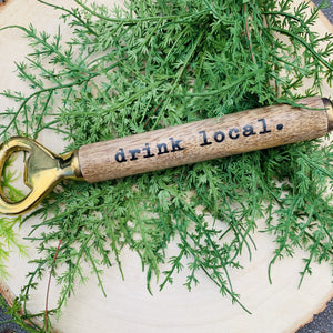 Wooden Handled Bottle Opener-Ruby & Pearl Boutique