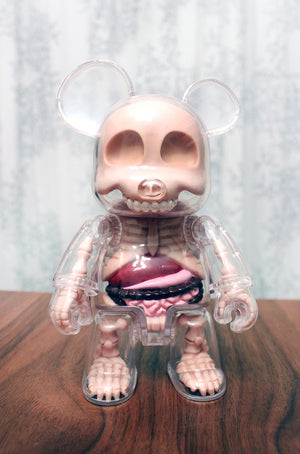 Toy Arte - Qee Visible Bear - Urso Qee transparente Jason Freeny