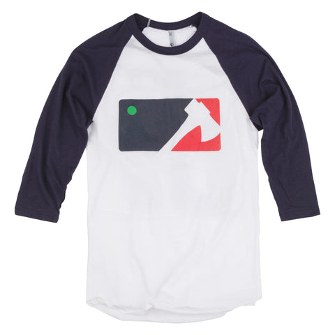 League Baseball Shirt - Blue Sleeve