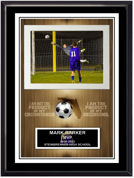 Team Sport Action Shot Plaque