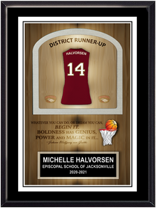 Basketball Self Standing Plaque