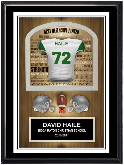 Football Inspirational Plaque