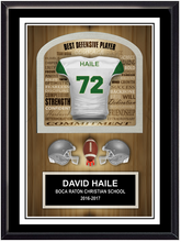 Team Football Plaque