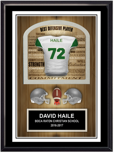 Football  Inspirational Self Standing Plaque