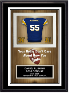 Football Self Standing Plaque