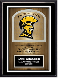 School Mascot/Logo Self Standing Plaque