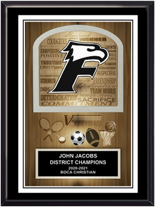 Team School Mascot/Logo Plaque