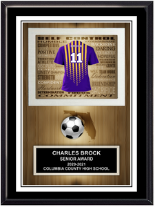 Team Soccer Stand Up Plaque