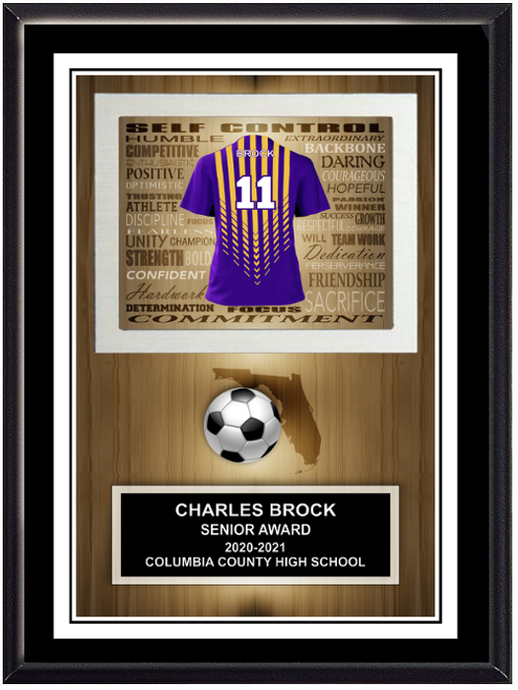 Soccer Inspirational Self Standing Plaque