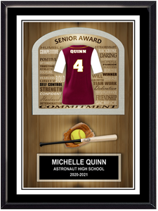 Team Softball Plaque