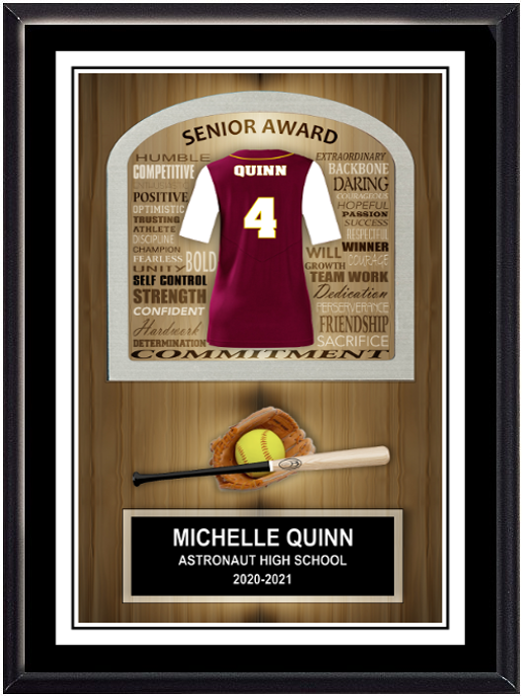Softball Inspirational Self Standing Plaque