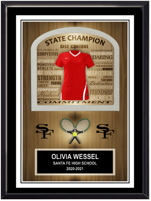 Tennis Inspirational Self Standing Plaque