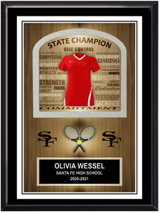 Team Tennis Stand Up Plaque