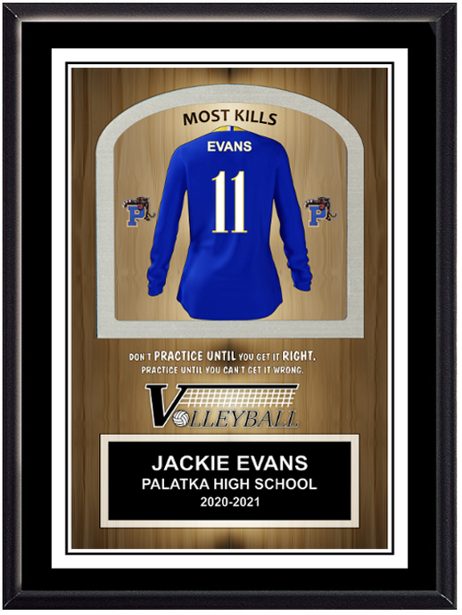 Volleyball Self Standing Plaque