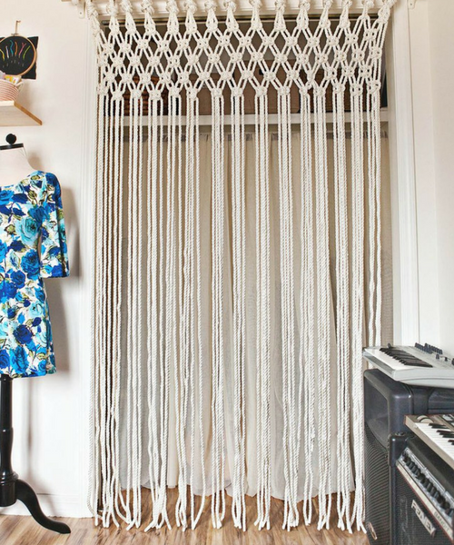 Boho Macrame Curtain DIY