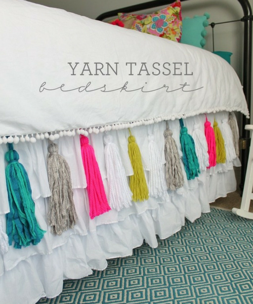 Yarn Tassel Bedskirt DIY