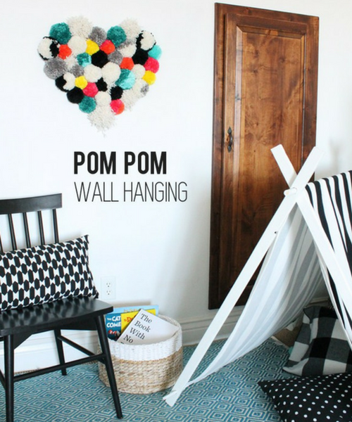 Heart Pom Pom Wall Art DIY