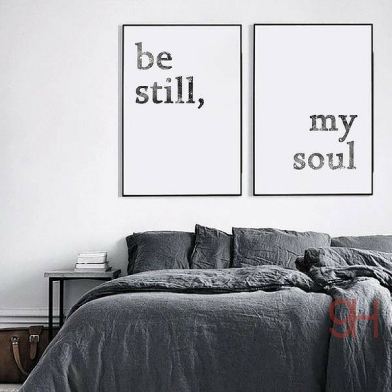 Be Still My Soul Wall Art Lalunaco