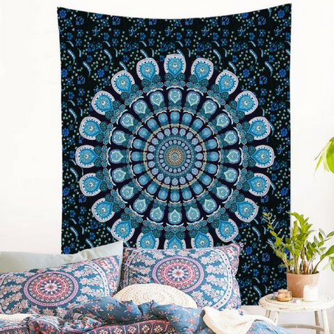 In The Mountains Wall Tapestry