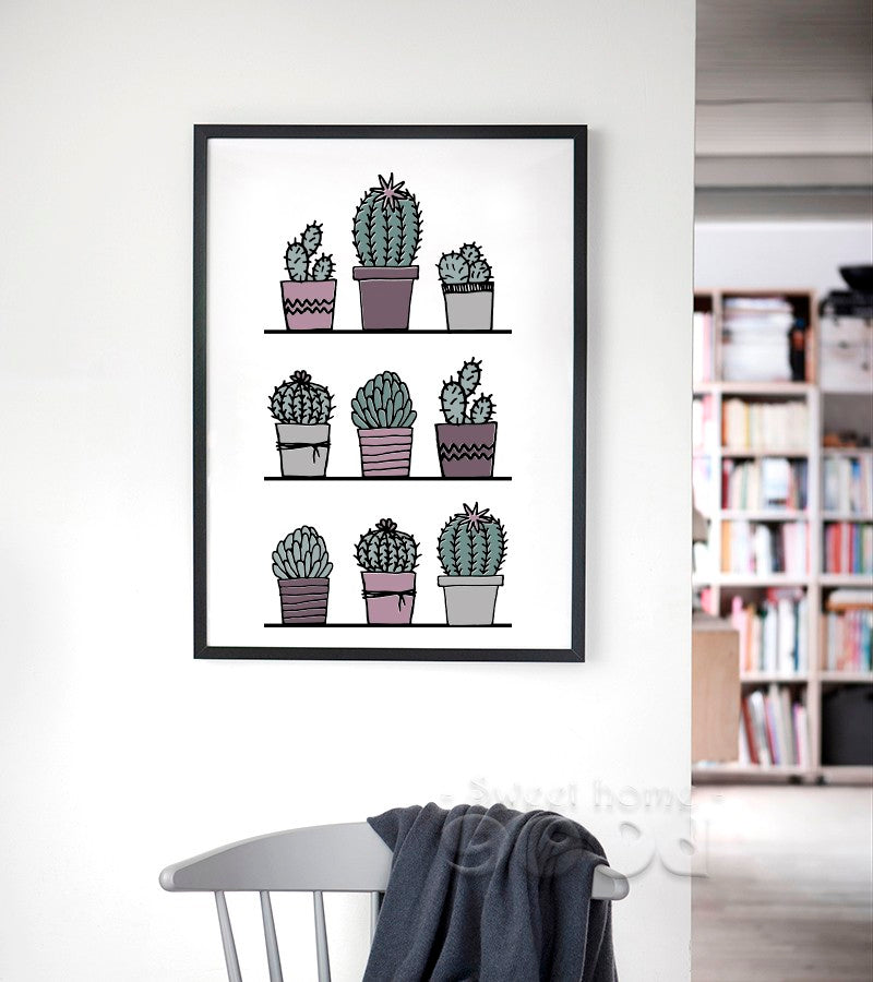 Pot Cactus Wall Art