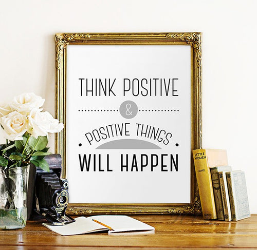 Think Positive Wall Art