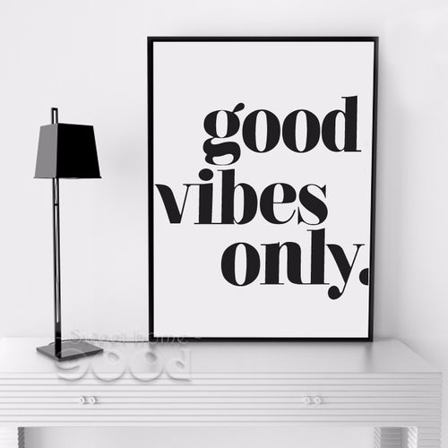 Good Vibes Only Wall Art