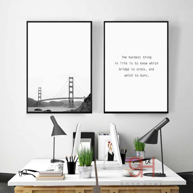 Nordic Style Bridge Wall Art