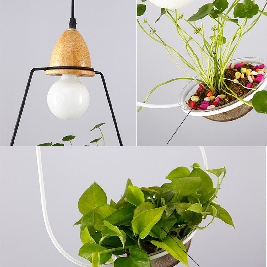 Simple Holder Wood Led Pendant Lights