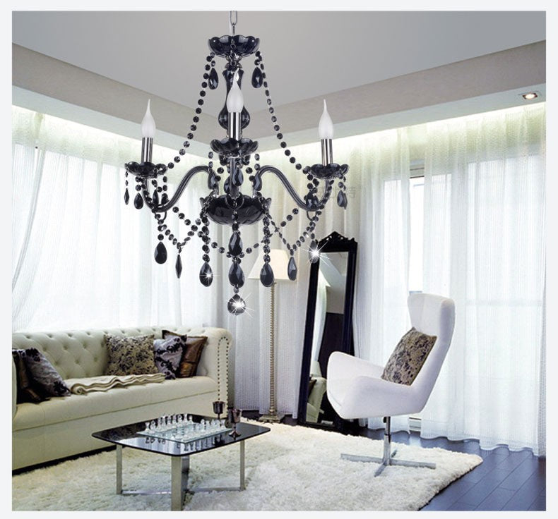 Black Crystal Chandelier
