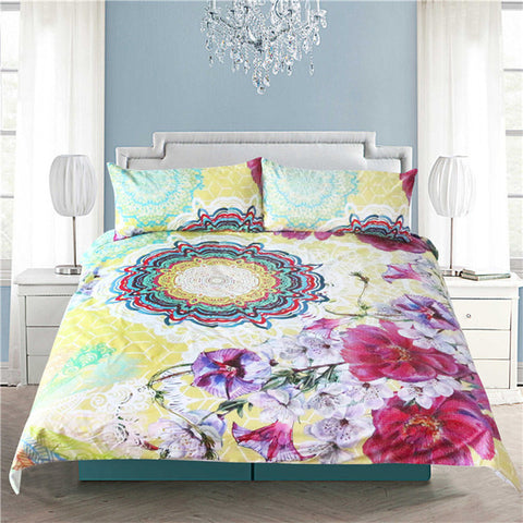 Little Pink Cactus 3 Piece Duvet Set