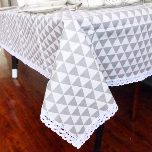 Black Triangle Tablecloth
