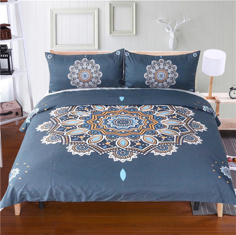 All The Feathers 3 Piece Duvet Set