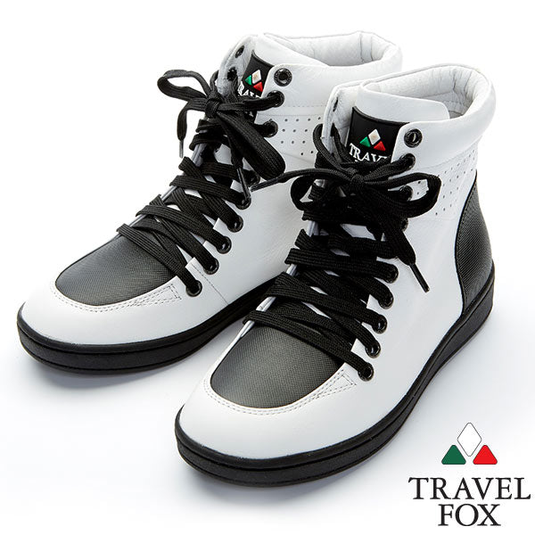 WOMEN'S 900 SERIES - TWO-TONE WHITE & BLACK NAPPA LEATHER
